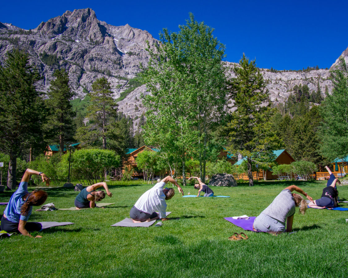 Yoga at the Creekside Spa in June Lake, California