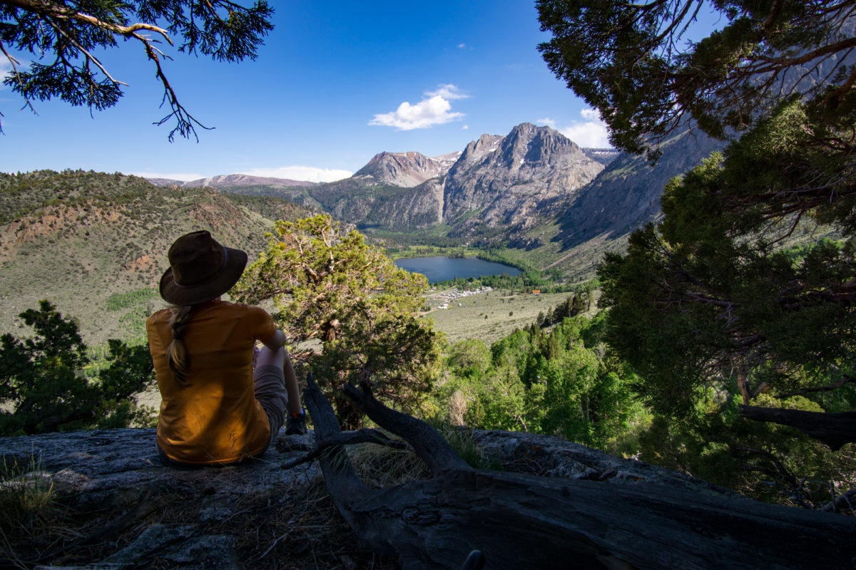 Hiking Parker Bench in June Lake, California