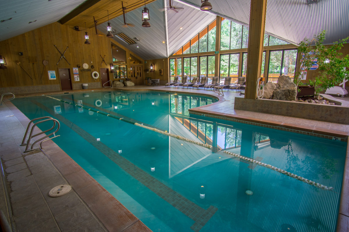 Indoor Pool at the Creekside Spa in June Lake, California