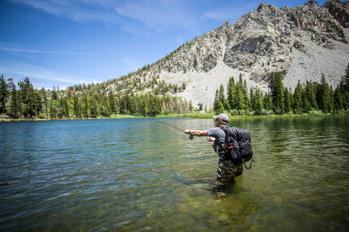 Fishing in Fern Lake; June Lake, California