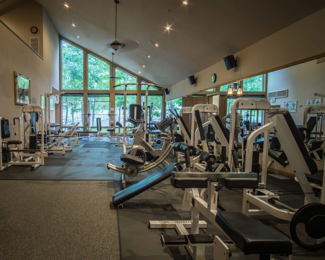 An image of the exercise equipment at the Creekside Spa in June Lake, California